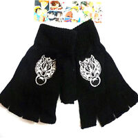 Anime Final Fantasy Cloud Wolf Cosplay Cotton Knitted Gloves Warm Mittens Gift