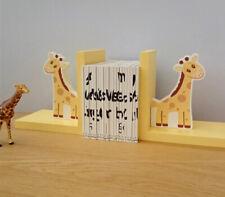 Cute Standing Giraffe Wooden Bookends Children's Kids Bedroom Nursery