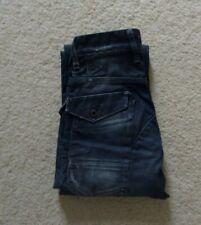 Mens G-Star 5204 Raw 3301 Dark Indigo Denim Jeans W 26 L 30