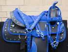 HORSE SADDLE WESTERN USED TRAIL BARREL ALL PURPOSE SYNTHETIC TACK 14 15 16 17 18