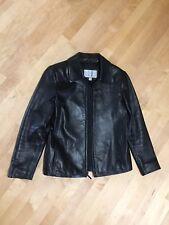 Nine West Woman's Black Leather Jacket