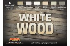 LifeColor CS38 Diorama Set White Wood 6x22ml Acrylic Colours