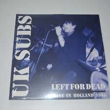 UK SUBS - LEFT FOR DEAD Alive in Holland 1986 - 2 LPs LTD. EDITION COLOR VINYL