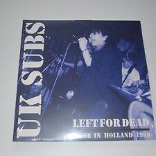 UK SUBS - LEFT FOR DEAD Alive in Holland 1986 - 2 LPs LTD. EDITION COLOR VINYL