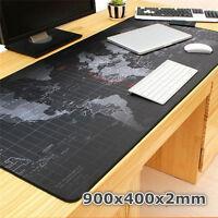 LargeSize 900*400*2MM World Map Speed Game Mouse Pad Mat Laptop GamingMousepadGW