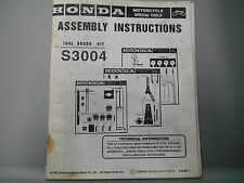 Honda Motorcycle Special Tools Assembly Instructions Tool Board Kit S3004