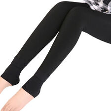 Women Warm Winter Skinny Slim Brushed Leggings Stretch Pants Thick Heel Trousers