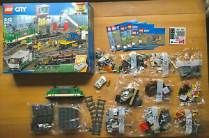 Lego City Güterzug 60198 mit Powered UP Neuwertig, unbespielt
