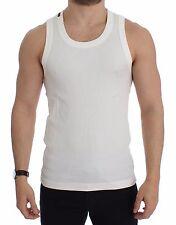 NEW $180 DOLCE & GABBANA White Cotton Sleeveless Tank T-shirt Top s. EU50 / L