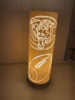 Chicago Bears Football Logo Lamp Night Light Bar Accessory Man Cave Shadow Lamp