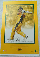 RICKY PONTING AUSTRALIA SIGNED IN PERSON PRINT CA COA cricket Australia