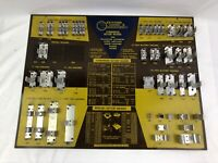 Vintage Keystone Battery Holder Store Advertising Display w/ 37 Holders Exc cond