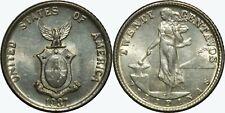 1937-M US/Philippines 20 Centavos ~ AU ~ Allen#12.01 ~ 75% Silver ~ MX743