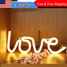 3D Led Sign Love Glow Light Bar Decor Wall Hanging Gift Neon Lamp Home Shop Hot