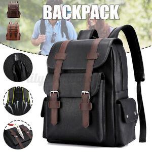 PU Leder Rucksack Waterproof  Schultasche Laptoptasche Reisetasche Tasche