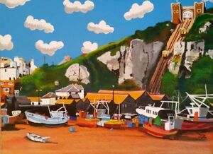 ROCK-A-NORE HASTINGS EAST SUSSEX OPEN EDITION PRINT BY MICHAEL PRESTON