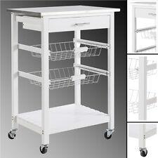 Küchenwagen COOK #72 WEISS Schublade Küchenschrank Teewagen Rollwagen Edelstahl