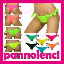 Costume brasiliana solo slip moda mare donna lacci colori moda swimwear K0007