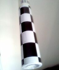 """9ft x 18"""" Checkered Black White Nascar shelf liner adhesive contact wall paper"""