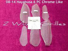 2008 SUZUKI HAYABUSA GSXR 1300 CHROME LIKE FAIRING SCREENS GRILLS VENTS MESH