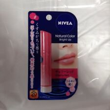 Nivea Natural Color Bright Up Cherry Red Lip Stick Balm unscented 3.5g Japan