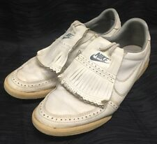 Vintage Nike Golf Shoes Sz 9.5 White Rubber Sole with Traction Grip Rare Vtg