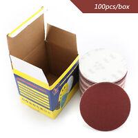 "100 PCS 6"" DA Hook & Loop Sandpaper Sanding Discs Sand Sheet Grit 40 - 2000 AU"