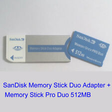 Genuine SanDisk Memory Card Stick Pro Duo 512MB+Duo Adapter For Sony Cameras,PSP