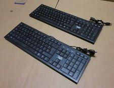 2 x T'nB KBSUBK Streamline UltraSlim Corded Keyboard Wired 104 Keys USB AZERTY