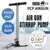 3 Stage PCP 4500PSI Air Gun Rifle Filling Stirrup Pump Hand Pump Pressure Gauge