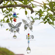 2 Type Butterfly Hanging Crystal Prisms Suncatcher Car Mirror Window Decor Gift