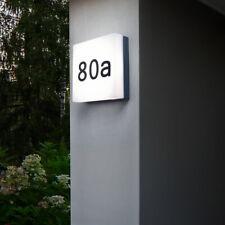 LED Außen Wand Leuchte Hausnummer Garten Strahler Lampe eckig Dämmerungssensor