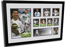 NEW CRISTIANO RONALDO REAL MADRID SIGNED LIMITED EDITION FRAMED MEMORABILIA