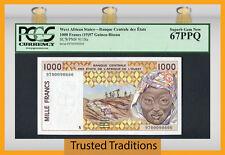 Tt Pk 911Sa 1997 West African States 1000 Francs Pcgs 67 Ppq Superb Gem Top Pop!