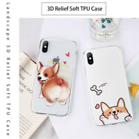 For Iphone 7 8 PLUS X 5 6 6S Cartoon Animal Ultra Thin Silicone Phone Case Cover