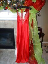 VICTORIA'S SECRET DESIGNER COLLECTION RED ROMANTIC LINGERIE GOWN L LARGE $98