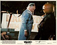 GEORGE KENNEDY signed WACKO 8x10 w/ coa FUNNY ORIG '82 PUMPKIN HEAD KILLER SCENE