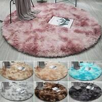 Round Fluffy Rugs Anti-Skid Shaggy Area Home Room Carpet Floor Mat Kids Playmat