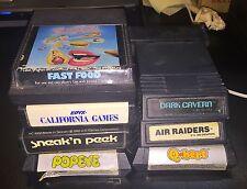Atari 2600 Fast Food California Games Sneak 'n Peek Popeye Dark Cavern Q*Bert