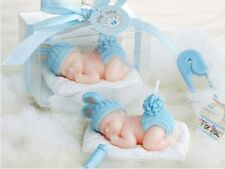 10pcs Blue Baby Candle For Wedding Party Birthday Souvenirs Gifts Favor With Box