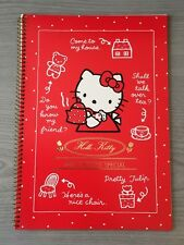 1aed832ea New Hello Kitty Red Spiral Notebook Sanrio 1999 Japan Note Book Pad Lined  Paper