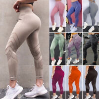 Women PUSH UP Yoga Leggings Sport Workout High Waist Gym Pants Seamless Trousers