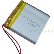 3.7V 1700 Mah de células de litio recargable de Li polímero para GPS DVD Tablet PC 605151