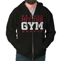 Hit The Gym Master Trainer Gaming Nerd Geek Adult Zip Hoodie Jacket Sweatshirt