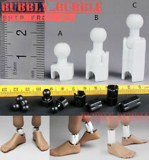 "1/6 Extra Long Feet Leg Peg Joint Adapter Set For 12"" Hot Toys Phicen ☆USA☆"