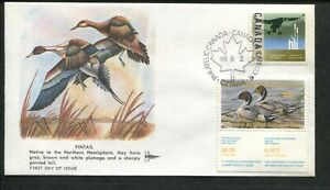 1988 Canada Goose Wildlife Conservation Duck Stamp #CN4 FDC Gill Craft