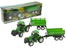friction powered farm tractor and trailer set farming toy collectable model