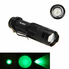 SK68 Mini 600Lm Q5 green LED Zoomable Light Adjustable Focus Flashlight Torch Q2