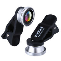 VODOOL Clip 3in1 180°Fish-Eye Lens+Wide Angle Lens+Macro Lens Silver for iPhone7
