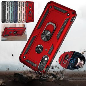 Shockproof Armor Case For Motorola G8 Power Lite G9 Play E7 G Ring Holder Cover